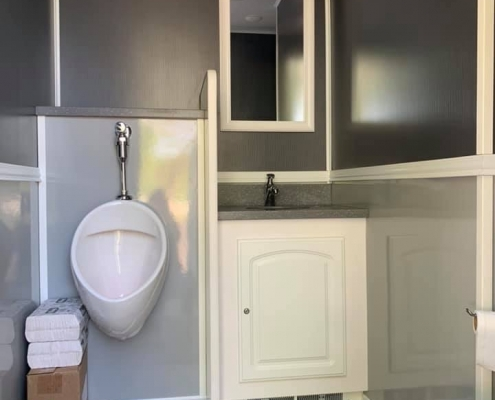 Luxury Porta Potty Men's Room